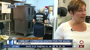 community cooperative soup kitchen donates food for thanksgiving