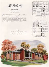 modern home house plans mid century modern small house architecture 1952 national plan