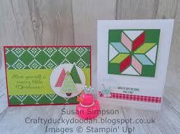 craftyduckydoodah stampin u0027 up christmas quilt for coffee u0026 cards