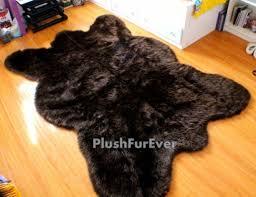 5 u0027 x 7 u0027 big brown bear faux fur rug chocolate bearskin rug plush