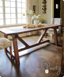 Simple Dining Table Plans Beautiful And Beefy Farmhouse Dining Table Simple Fall Table
