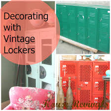 house revivals how to decorate with vintage lockers