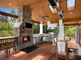 outdoor patio covers design outdoor covered deck with fireplace