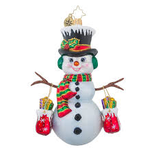 christopher radko ornaments radko shopping spree snowman