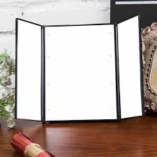 tri fold mirror with lights 2017 tri fold makeup mirror with led light portable travel compact