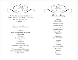 Example Of Wedding Program 8 Program Template Writable Calendar