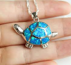 opal pendant necklace images Sea turtle blue fire opal pendant necklace atperrys jpeg
