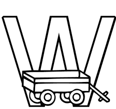 free alphabet coloring pages printable wagon alphabet coloring