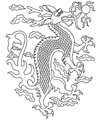 glamorous chinese dragon coloring pages sketch