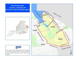 Queens Ny Zip Code Map by West Nile Virus Spray 2011