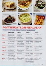 7 day weight loss meal plan be healthy feel alive pinterest