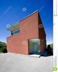 modern brick house modern brick house stock image image of perspective 11605219