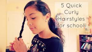 5 quick curly hairstyles for youtube