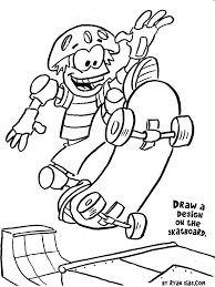 coloring pages skateboard coloring pages bart simpson skateboard