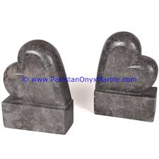 marble bookends heart shaped handcarved unique designs natural