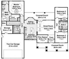 Ranch Style House Plans With Basement by Southern Style House Plans 1496 Square Foot Home 1 Story 3