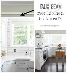 kitchen bulkhead ideas faux beam kitchen bulkhead wood beam inspiration so much