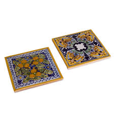 small house in spanish talavera tile trivets spanish garden set of 2 native trails