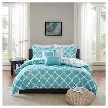 Teal Duvet Cover Becker Geometric Duvet Cover Set 6 Piece Target