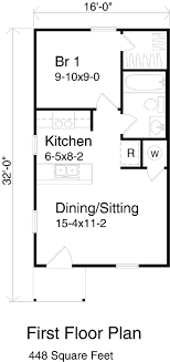 1 bedroom cottage floor plans 1 bedroom guest house plans gallery of best bedroom house plans