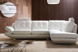White Contemporary Sofa by Attractive Leather White Sofa With Leather White Sofa