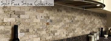 Stone Backsplash Kitchen by Split Face Stone Mosaics Discount Stone