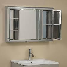 Framed Mirror Medicine Cabinet D Framed Silver Framed Medicine Medicine Cabinet With Sliding Doors 23 5 In W X 18 3 8 H 1 2 D