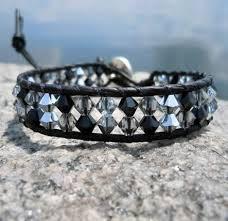 swarovski crystal leather bracelet images Swarovski crystal leather wrap bracelets black silver onsra jpg