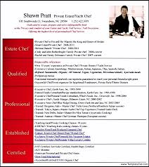 Private Chef Resume Sample Chef Resume Template Templatezet