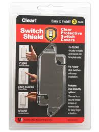 light switch lock guard flat rocker style switch guard switch shield
