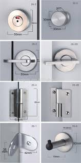 Toilet Partition High Quality Stainless Steel Gloss Toilet Partition Door Lock