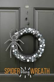 diy glitzy spider halloween wreath halloween crafts spider and