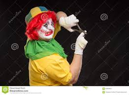halloween clown background scary face clown on the white background stock photo image