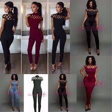 formal jumpsuits jumpsuit cagetop jumpsuits jumper lace up jumper bodycon