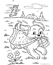 puppy coloring pictures color
