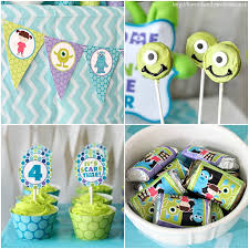 monsters inc baby shower ideas monsters inc birthday party of family home
