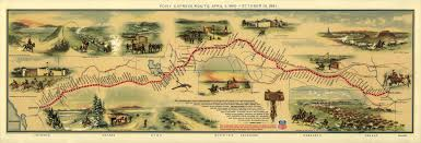 Historic Route 66 Map by Pony Express Wikipedia