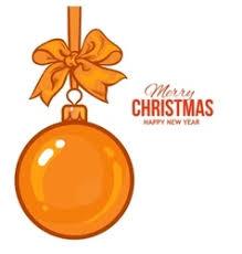 ribbon and bows gold christmas balls with ribbon and bows vector image
