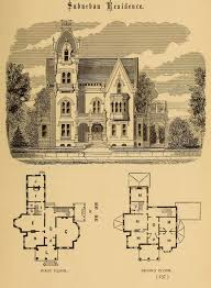 design for a suburban residence gothic revival except for the