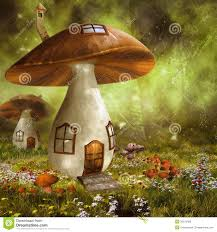 colorful mushroom houses royalty free stock photos image 36375468