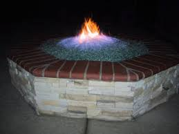 Fire Pit Lava Rock by 26 Perfect Fire Glass Over Lava Rock Pixelmari Com