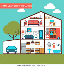 House Layout Clipart | interior clipart house layout pencil and in color interior clipart