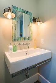 Beachy Bathroom Mirrors Theme Bathroom Shower Floating Shelves Shell Decor