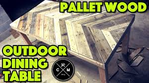 Build Outside Wooden Table by How To Build An Outdoor Dining Table From Pallet Wood Diy