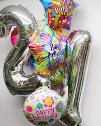 luck balloon delivery jumbo 21st birthday balloon bouquet in boston ma central square