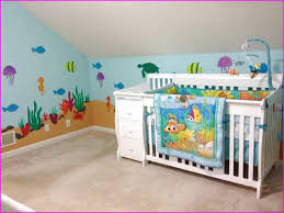 Finding Nemo Crib Bedding Attic Nursery With Wall Murals And Finding Nemo Baby Bedding