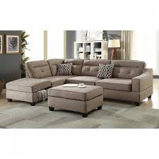 sectional sofas with ottoman esofastore modern sleek reversible chaise w storage tufted sofa