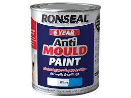 ronseal ampws25l anti mould paint white silk 2 5 litre amazon co
