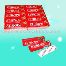 europe chewing gum brands of chewing gum banana chewing gum etc