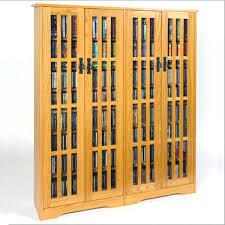 Oak Dvd Storage Cabinet Dvd Storage Cabinets With Doors Alanwatts Info